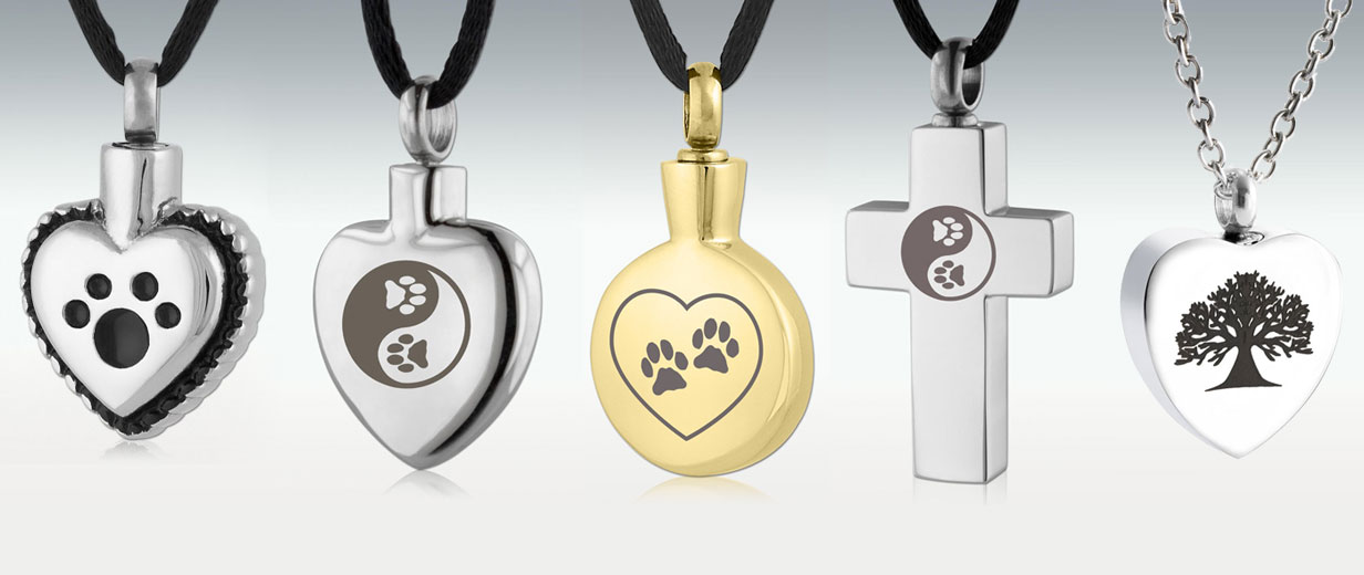 Heart-shaped keepsake pendants for Cats and Dogs