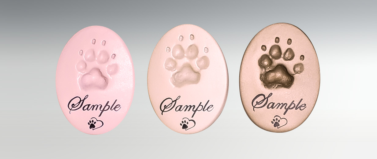 *NEW Oval Clay Paw Prints for Cats & Dogs