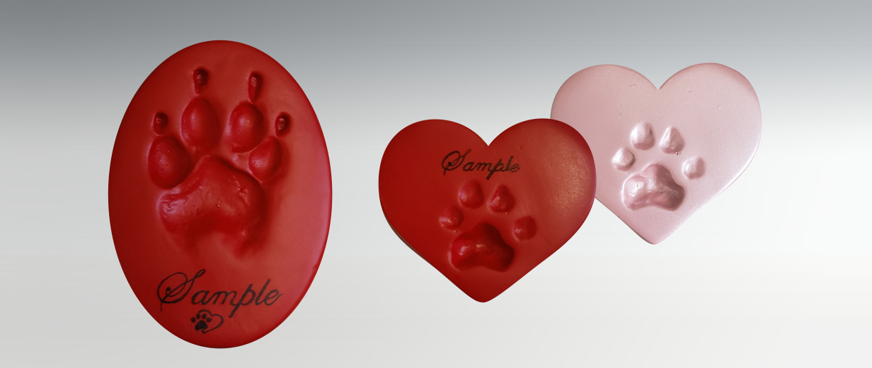 *NEW Oval and Heart Clay Paw Prints for Cats & Dogs