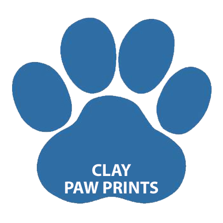 CLAY PAW PRINTS
